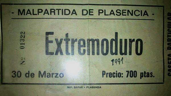 Entrada-Extremoduro-año-1991-03-30-Malpartida-de-Plasencia-Caceres