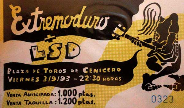 Entrada-Extremoduro-año-1993-09-03-Cenicero-La-Rioja-Grabacion-VHS