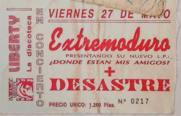Entrada-Extremoduro-año-1994-05-27-Liberty-presentando-Donde-estan