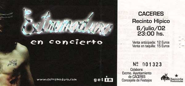 Entrada-Extremoduro-año-2002-07-06-Recinto-Hipico-Caceres