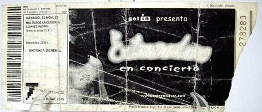Entrada-Extremoduro-año-2002-11-23-Cubierta-de-Leganes
