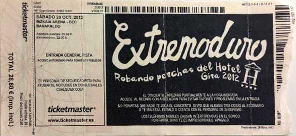 Entrada-Extremoduro-año-2012-10-20-BEC-Bilbao