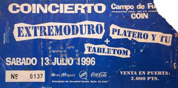 Entrada-Extremoduro-y-Platero-y-Tu-año-1996-07-13-Coin