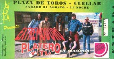 Entrada-Extremoduro-y-Platero-y-Tu-año-1996-08-31-Cuellar-Segovia
