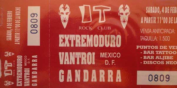 Entrada-ExtremoduroVantroi-año-1995-02-04-IT-Rock-Club