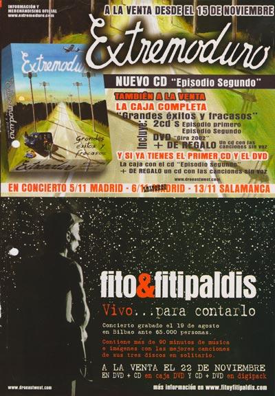 Extremoduro-y-Fitipaldis-anuncios-de-nuevos-trabajos-año-2004-Noviembre