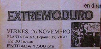 cartel-Extremoduro-año-1993-11-26-Planta-Baixa-Vigo