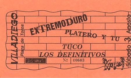 Entrada-Platero-y-Tu-y-Extremoduro-1991-08-03-plaza-toros-villadiego-burgos
