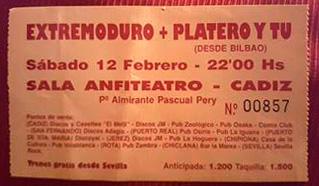 Entrada-Platero-y-Tu-y-Extremoduro-1994-02-12-sala-anfiteatro-cadiz