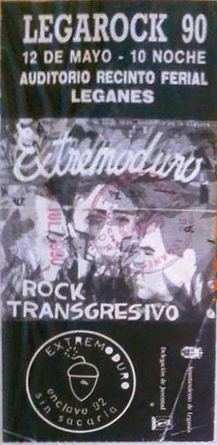 Extremoduro en Legarock, Auditorio Recinto Ferial de Leganés – 1990/05/12