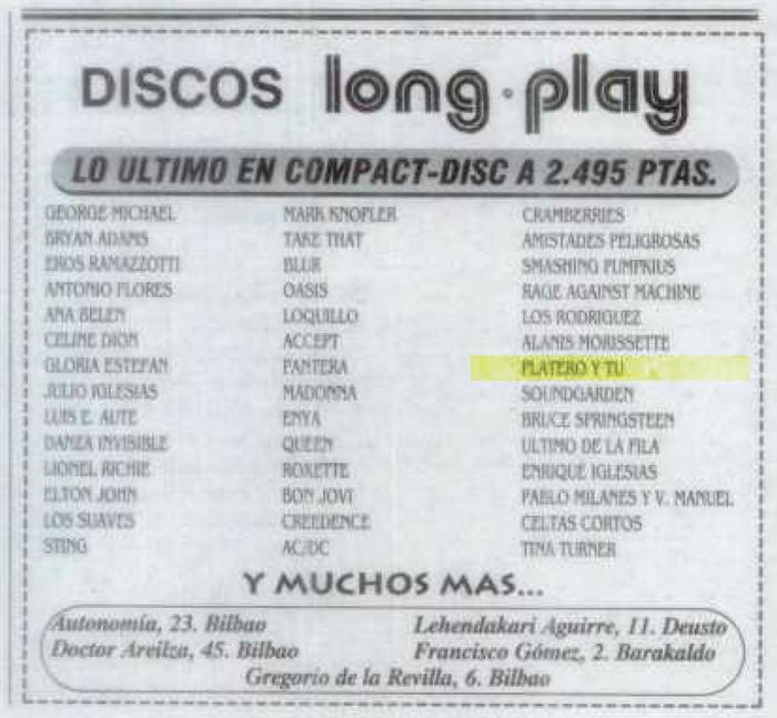 1996-06-07-evasion-anuncio-long-play-discos-platero